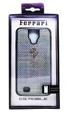 Genuine Ferrari GT Carbon Snap-On Hard Case For Samsung Galaxy S4 Silver - NEW