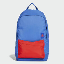 Adidas Classic Backpack Rucksack Work Travel Gym School Bag CG0514 - Blue / Red