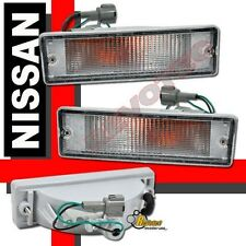 Euro Clear Bumper Lights For 88-97 Nissan Pickup 89 90 91 92 93 94 95 96