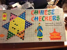 """RARE Vintage Built-Rite Chinese Checkers Game """"NEW FACTORY SEALED"""""""