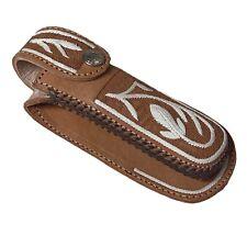 Leather Sheath For Knife With Loop Belt Funda Para Navaja Piteado Pita Original
