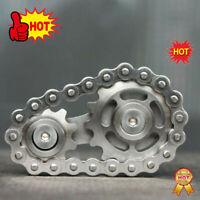 Sprocket Gear Spinner Decompression Finger Fingertip Gearwheel Chains Gyro Toy