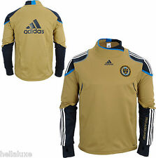 Adidas PHILADELPHIA UNION Soccer TRAINING FORMOTION Sweat Shirt-Jersey Top~Men S