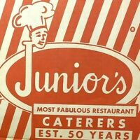 Vintage 1970s Juniors Restaurant Caterers Menu Brooklyn Flatbush Dekalb NYC