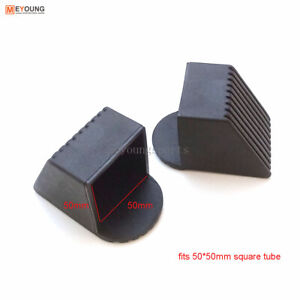 2PCS Rubber End Caps Total Gym Fitness Equipment Square End Covers 30/40/50mm