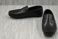 Base London Attwood Leather Moccasin Penny Loafers, Men's Size 10, Black