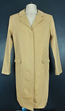 Brooks Brothers Khaki Beige Trench Coat Overcoat Hidden Buttons Womens Large