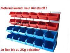 Schraubenregal Kleinteileregal Werkzeugwand Sichtlagerboxen Kleinteilemagazin