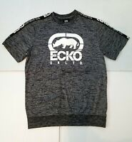 ECKO UNLTD Men's Black Flyknit T-Shirt Black White Gray Medium Shirt New
