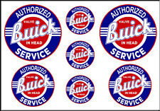 1 1/2 3/4 INCH BUICK SERVICE DECALS STICKERS