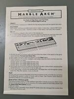 Vintage Advance To Marble Arch Board Game Instruction Spare Parts Replacements