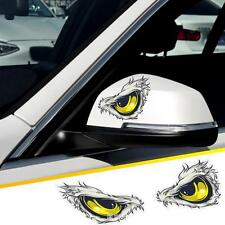 1 Pair Cool 3D Angry Bird Eyes Car Sticker | Yellow Eagle Window Mirror Decal