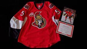 OTTAWA SENATORS ALFREDSSON RETIREMENT * CECI GAME WORN/USED HOCKEY JERSEY * NHL
