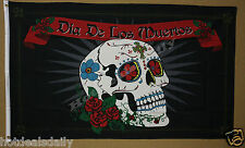 Dia De Los Muertos flag 3'x5' banner Day Of The Dead Holiday Decorated Skull