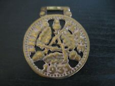 Horse Harness Brass Medallion Bridle Ornament THREE PENCE 1931