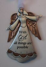 aad With God all things are possible Angel ANGELS OF FAITH ORNAMENT Ganz
