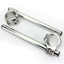 Neuf Bracelets demi guidons 33mm Argenté Pr Honda CB350 CB400 CX500 CB450 CMX250