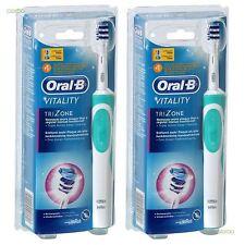 Oral-b Vitality Trizone Eléctrico Recargable Potencia Cepillo De Dientes Paquete 2-pack Nuevo