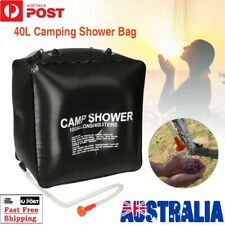 40L Portable Wheel Water Tank Camping Motorhome Caravan Storage Waste Trans Grey
