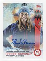 2014 Topps USA Olympic Team Authentic Autograph #49 Hannah Kearney Freestyle Ski