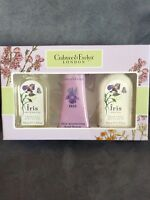 CRABTREE & EVELYN IRIS GIFT SET - BATH/SHOWER GEL, HAND THERAPY, BODY LOTION