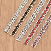 3 Rows Crystal Rhinestone Cup Chain With Claw DIY Wedding Dress Garments Decor