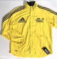 Berlin Marathon Men's XL Climaproof Adidas 2007 Yellow Rain / Running Jacket NWT