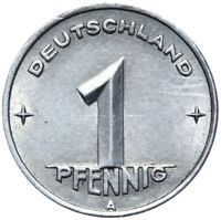 DDR - Münze - 1 Pfennig 1949 A - Münzstätte Berlin
