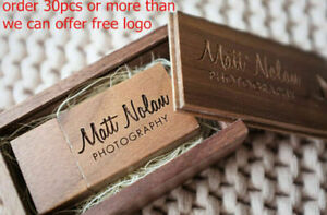 Personalised Wedding Party ODM LOGO walnut Wooden usb memory stick flash drive