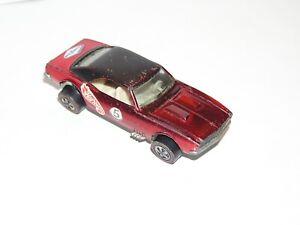1968 Hot Wheels Redline Custom Camaro US RED ALL ORIGINAL SOLID YR1 CAMMY! DB