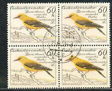 TSCHECHOSLOWAKEI 1959 Vögel 60 H Pirol (Oriolus oriolus) Viererblock O ABART