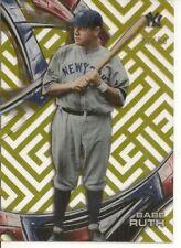 2016 Topps High Tek Babe Ruth Yankees Card #HT-BR Serial #22/60 - NM-MT+