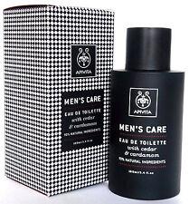 APIVITA Men's Care Organic Natural Eau de Toilette With Cardamom & Cedar 100ml
