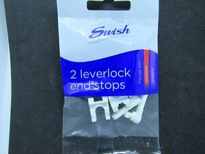 SWISH LEVERLOCK END STOPS ( packet of 2) sologlyde/ aluglyde WS290W