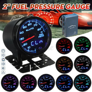 """2"""" 52mm Fuel Oil Pressure Gauge Meter Digital LED Display Sender Unit 0-80"""