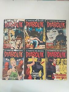 LOTTO DIABOLIK ORIGINALE PRIMA SERIE n 18-19-20-21-23-24 INGOGLIA 1964