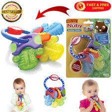 Teething Toy Ice Gel Teether Keys Multicolor For Babies 3 Months BPA Free