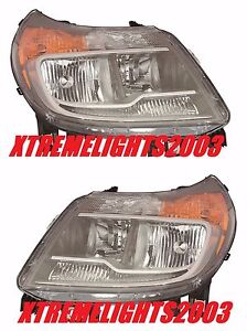 DODGE RAM PROMASTER 2014-2016 HEADLIGHTS HEAD LAMPS FRONT LIGHTS WITH DRL PAIR