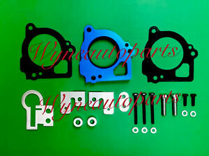 Fit 03-07 Jeep Grand Cherokee 4.7L V8 Fuel Injection Throttle Body Spacer Blue