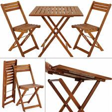 Conjunto de balcón set de 1 mesa y sillas plegables de madera de acacia Jardín
