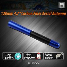 "4.7"" Blue Carbon Fiber Screw Aluminum Short Car Signal Amplifier Aerial Antenna"