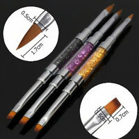 Nail Art UV Gel Strass Griff doppelköpfigen Acryl Pinsel Stift von DIY GARSDE