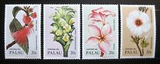 PALAU, Scott # 59-62, SET OF 4 SINGLES - CHRISTMAS FLOWERS & PLANTS, MNH