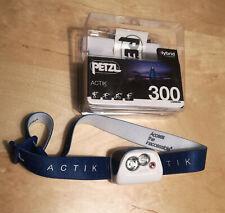 PETZL Actik 300 Lumens Headlamp / BLUE / 1x benutzt