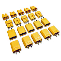 5 Paar 10 Stück XT30 Goldstecker Stecker Buchse Lipo Akku RC 30A Gelb XT 30