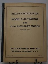 1961 ALLIS CHALMERS MODEL D-14 TRACTOR D-14 AUXILIARY MOTOR PARTS CATALOG