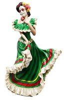 Dia De Los Muertos Sugar Skull Mexico Dancer Figurine Day Of The Dead Vivas C...