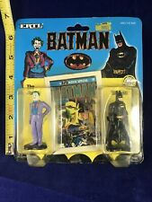 1990 Ertl Batman & Joker 2 Piece Diecast Figure Set NIB, Some Shelf Wear....