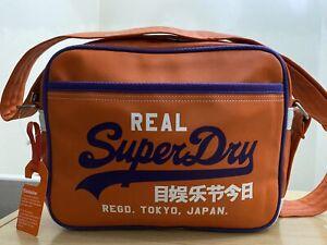 RARE Superdry Mash Up Mini Alumni Bag - Jaffa/Heliotrope BNWT