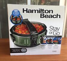 Hamilton Beach 33462 6qt stay or go football field portable slowcooker